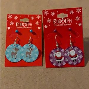 🌸 New Christmas Santa and Rudolph Earrings L4
